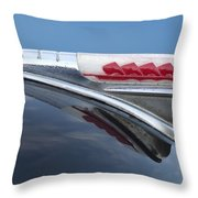 1947 Plymouth Hood Ornament Throw Pillow by Jill Reger
