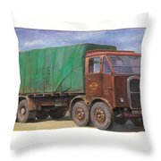 1947 Scammell R8 Throw Pillow by Mike  Jeffries