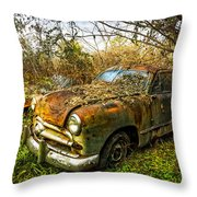 1949 Ford Throw Pillow by Debra and Dave Vanderlaan