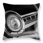 1949 Plymouth P-18 Special Deluxe Convertible Steering Wheel Emblem Throw Pillow by Jill Reger