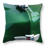1949 Studebaker Champion Hood Ornament Throw Pillow by Jill Reger