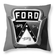 1950 Ford Custom Deluxe Station Wagon Emblem Throw Pillow by Jill Reger