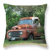 1950 Ford F100 Throw Pillow by Lorri Crossno