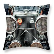 1950 Jaguar Xk120 Roadster Grille Throw Pillow by Jill Reger