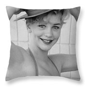 1950s Pinup Throw Pillow by Chuck Staley