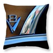 1951 Ford Crestliner V8 Emblem Throw Pillow by Jill Reger