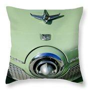 1951 Studebaker Commander Hood Ornament 2 Throw Pillow by Jill Reger