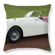 1954 Jaguar Xk120 Roadster  Throw Pillow by Jill Reger