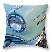 1954 Lincoln Capri Headlight Throw Pillow by Jill Reger
