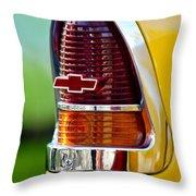 1955 Chevrolet Taillight Emblem Throw Pillow by Jill Reger