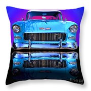 1955 Chevy Bel Air Throw Pillow by Jim Carrell
