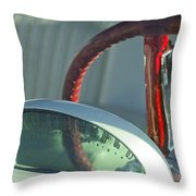 1955 Ford Thunderbird Steering Wheel Throw Pillow by Jill Reger