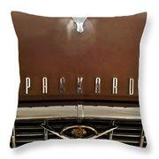 1955 Packard 400 Hood Ornament Throw Pillow by Jill Reger