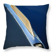 1955 Studebaker President Hood Emblem Throw Pillow by Jill Reger