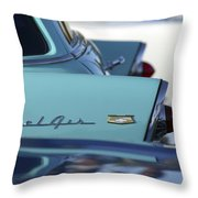 1956 Chevrolet Belair Nomad Rear End Throw Pillow by Jill Reger