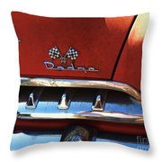 1956 Dodge 500 Series Photo 2b Throw Pillow by Anna Villarreal Garbis