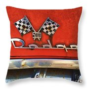 1956 Dodge 500 Series Photo 8b Throw Pillow by Anna Villarreal Garbis