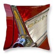 1957 Chevrolet Belair Taillight Throw Pillow by Jill Reger