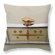 1957 DeSoto Adventurer Emblem Throw Pillow by Jill Reger