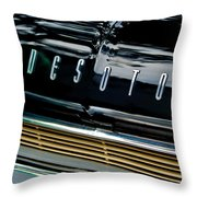 1959 Desoto Adventurer Hood Emblem Throw Pillow by Jill Reger