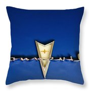 1959 Pontiac Bonneville Emblem Throw Pillow by Jill Reger