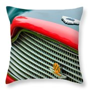 1960 Aston Martin Db4 Gt Coupe' Grille Emblem Throw Pillow by Jill Reger