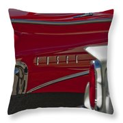 1960 Edsel Taillight Throw Pillow by Jill Reger