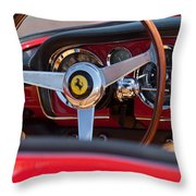 1960 Ferrari 250 Gt Cabriolet Pininfarina Series II Steering Wheel Emblem Throw Pillow by Jill Reger