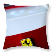 1960 Ferrari 250 GT SWB Berlinetta Competizione Grille Emblem Throw Pillow by Jill Reger
