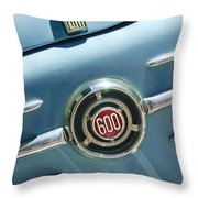 1960 Fiat 600 Jolly Emblem Throw Pillow by Jill Reger
