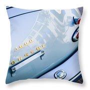 1960 Porsche 356 B 1600 Super Roadster Rear Emblem - Taillight Throw Pillow by Jill Reger