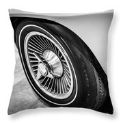 1960's Chevrolet Corvette C2 Spinner Wheel Throw Pillow by Paul Velgos
