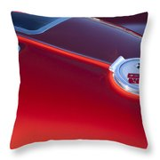 1963 Chevrolet Corvette Split Window Throw Pillow by Jill Reger