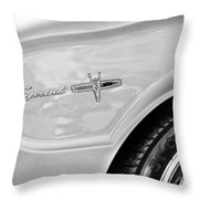 1963 Ford Falcon Sprint Side Emblem Throw Pillow by Jill Reger
