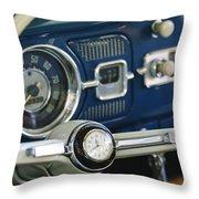 1965 Volkswagen Vw Beetle Steering Wheel Throw Pillow by Jill Reger