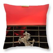 1966 Ferrari 330 Gtc Coupe Hood Ornament Throw Pillow by Jill Reger