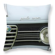 1968 Alfa Romeo Giulia Super Grille Throw Pillow by Jill Reger