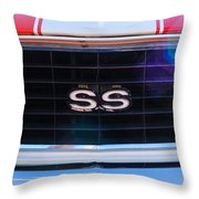 1969 Chevrolet Camaro Rs-ss Indy Pace Car Replica Grille Emblem Throw Pillow by Jill Reger