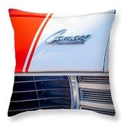 1969 Chevrolet Camaro Rs-ss Indy Pace Car Replica Hood Emblem Throw Pillow by Jill Reger
