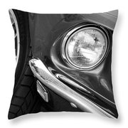 1969 Ford Mustang Mach 1 Front End Throw Pillow by Jill Reger