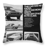 1970 Dodge Challenger T/a Throw Pillow by Digital Repro Depot