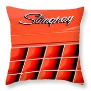 1972 Chevrolet Corvette Stingray Emblem 3 Throw Pillow by Jill Reger