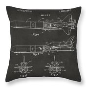 1975 Space Vehicle Patent - Gray Throw Pillow by Nikki Marie Smith
