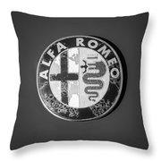 1986 Alfa Romeo Spider Quad Emblem Throw Pillow by Jill Reger