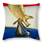 1986 Zimmer Golden Spirit Hood Ornament Throw Pillow by Jill Reger