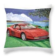 1987 Ferrari Testarosa Throw Pillow by Jack Pumphrey