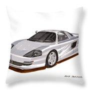 1991 Mercedes Benz C 112 Concept Throw Pillow by Jack Pumphrey