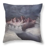 1st Painting 2-27-1991 Throw Pillow by Rhonda Lee