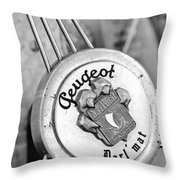 1937 Peugeot 402 Darl'mat Legere Special Sport Roadster Recreation Steering Wheel Emblem Throw Pillow by Jill Reger
