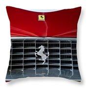 1960 Ferrari 250 GT SWB Berlinetta Competizione Grille Emblem Throw Pillow by Jill Reger